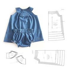 Baby Girl Dress Patterns, Baby Clothes Patterns, Little Girl Dresses, Clothing Patterns, Toddler Girl Outfits, Kids Outfits, Baby Boy Fashion, Kids Fashion, Baby Frocks Designs