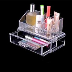 caixa organizadora cosméticos porta jóias acrílico pl1062