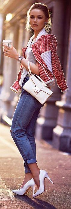 Rosy // Fashion Trend by Kayture... | Street Fashion