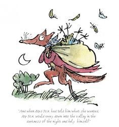 Limited edition Roald Dahl posters, prints and artwork featuring illustrations by Sir Quentin Blake. Buy from the home of Roald Dahl. Quentin Blake Prints, Quentin Blake Illustrations, Roald Dahl Characters, Roald Dahl Books, Literary Characters, Fuchs Illustration, Illustration Styles, Fantastic Fox, Book Day Costumes
