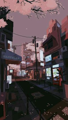 waneella is creating pixel art – Best of Wallpapers for Andriod and ios Anime Scenery Wallpaper, Aesthetic Pastel Wallpaper, Aesthetic Backgrounds, Aesthetic Wallpapers, Anime Backgrounds Wallpapers, Iphone Wallpapers, Animes Wallpapers, Live Wallpapers, Live Wallpaper Iphone