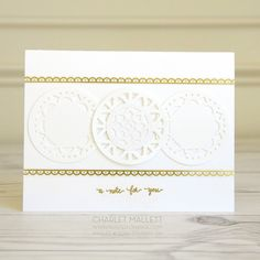 Eastern Palace card - Stampin' Up! Thank Goodness It's Friday, Eastern Palace, Circle Punch, Lace Doilies, Sympathy Cards, Get Well, Stampin Up, Craft Projects, Card Making