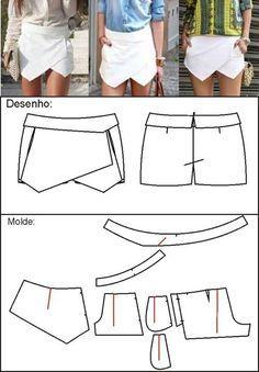 envelope mini skirt :: la de zara!!