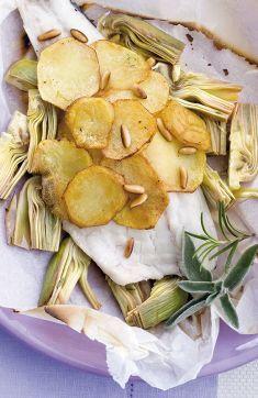 Carciofi e cefalo al cartoccio con patate gratinate - Tutte le ricette dalla A alla Z - Cucina Naturale - Ricette, Menu, Diete