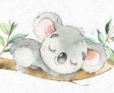 Cute Animal Drawings, Cute Drawings, Koala Tattoo, Koala Craft, Koala Illustration, Koala Nursery, Baby Animals, Cute Animals, Cute Koala Bear
