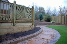 Image result for pea gravel path with paver edge