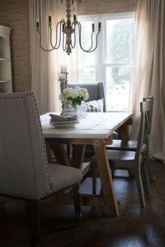 Farmhouse Dining Room Table and Chairs - Seeking Lavendar Lane