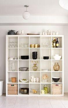 Ideas for kitchen storage ideas ikea shelves Cube Storage, Diy Storage, Storage Ideas, Ikea Storage Shelves, Extra Storage, Kitchen Ikea, Kitchen Stuff, Ikea Kitchen Shelves, Kitchen Cabinets