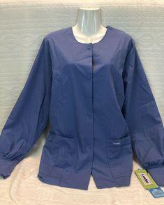 Scrub Jackets, Scrubs, Nike Jacket, Athletic, Warm, Chic, Blue, Tops, Women