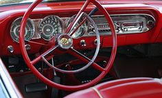 1963 Ford Fairlane 500 Sports Coupe of School Car, Ford Classic Cars, Ford Fairlane, Chevrolet Chevelle, Red Interiors, Car Ford, Dashboards, Ford Motor Company, Hot Cars