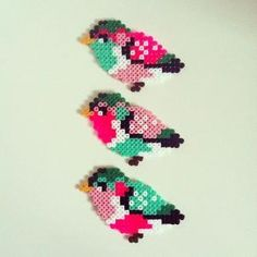 Birds hama perler beads by Camilla Drejer by JohnsonKathy
