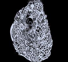 Headlights , مخّي ضوا Doodle art and illustration