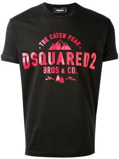 MEN DSQUARED2 D2 T-SHIRT BLACK SHORT SLEEVE All Sizes