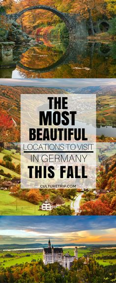 The Most Beautiful Locations to Visit in Germany This Fall , The Most Stunning Areas to Go to in Germany This Fall The Most Stunning Areas to Go to in Germany This Fall Cities In Germany, Germany Travel, Places To Travel, Places To See, Austria, Holidays Germany, Black Forest Germany, Parks, Amsterdam