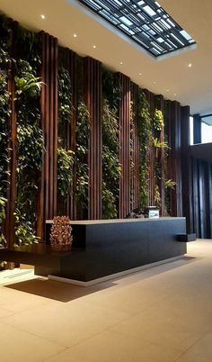 hotel ideas This is our daily lobby design - hotel Design Entrée, Design Room, Wall Design, Design Miami, Door Design, Hotel Lobby Design, Modern Hotel Lobby, Office Entrance, Office Lobby