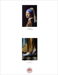 .Ogilvy's Award-Winning Campaign Completes Bottom Half Of Famous Portraits....Johannes Vermeer, Girl With A Pearl Earring