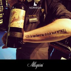 Life is to short to drink bad WINE!  Quality is important to our Allegrini La Grola friend from Norway Radisson.