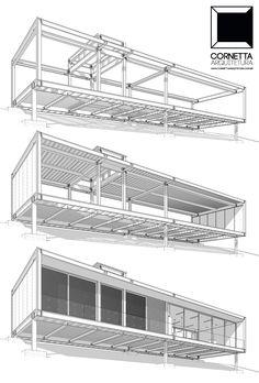 Loft em estrutura metálica: etapas da construção de nosso projeto. #cornetta #arquitetura #estruturametalica #loft Building A Container Home, Container Buildings, Container Architecture, Container House Plans, Concept Architecture, Architecture Details, Modern Architecture, Chinese Architecture, Ancient Architecture