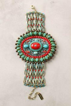 turquoise and red beaded bracelet I Love Jewelry, Ethnic Jewelry, Indian Jewelry, Boho Jewelry, Vintage Jewelry, Jewelry Accessories, Fashion Accessories, Handmade Jewelry, Fashion Jewelry