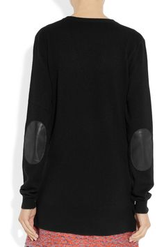 Joseph | Leather elbow-patch cashmere sweater