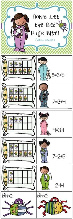 3 Common Core Addition Centers: Adding on a ten frame and understanding the meaning of the equal sign $