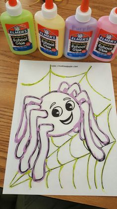 Color School Glue With Food Coloring For A Fun Activity To Promote Shoulder Stability Hand