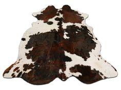 Brindle Tricolor Speckled Cowhide Rug  7' X 6' by Cowhidesusa