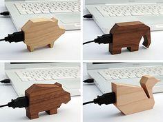 Wooden Animal USB Drives | GeekAlerts
