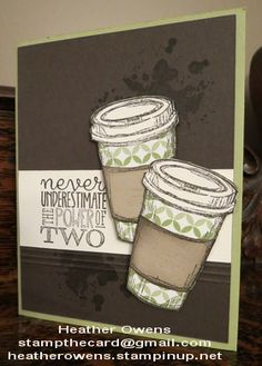 Stampin' Up! Heather's Blog: The perfect blend! gorgeous grunge, yippee-skippee