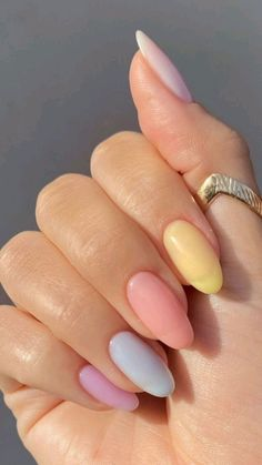 Stylish Nails, Trendy Nails, Acylic Nails, Nagellack Design, Best Acrylic Nails, Neutral Acrylic Nails, Rounded Acrylic Nails, Pastel Nail Art, Square Acrylic Nails