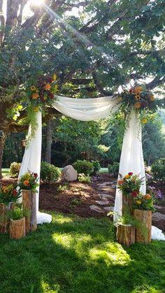 Wedding Arbor Decorations, Wedding Centerpieces, Wedding Bouquets, Outdoor Decorations, Wedding Backdrops, Decoration Party, Wedding Arrangements, Tree Decorations, Floral Wedding