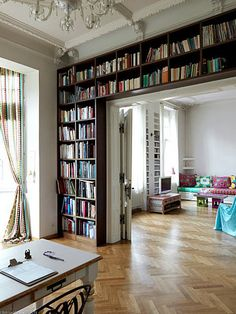 Love the bookshelves.