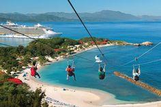 Labadee, Haiti. The world longest zip line.  EXPERIENCE IT!