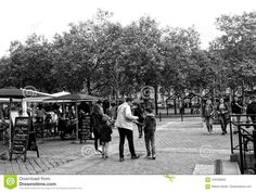 Commercial Street With Park In Nantes France Editorial Photography - Image of city, contrast: 104536652 Image Photography, Editorial Photography, Commercial Street, White Image, High Contrast, Dolores Park, Street View, France, Black And White