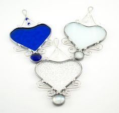 Birthstone Colors Stained Glass Heart Suncatcher by Nostalgianmore, $25.00 Perfect as a bridesmaids gift!