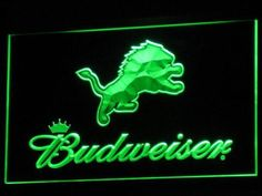 Detroit Lions Budweiser LED Neon Sign