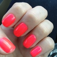 If you want your neon (or any multi coat polish) to stand out more - first paint your nails with a solid white. You'll be surprised at how opaque they turn out!