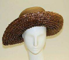 Lord & Taylor, straw hat - 1940's - The Metropolitan Museum of Art