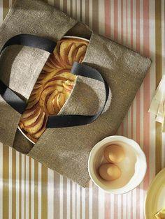 Transporttasche für Kuchen, Leinen - Natur - 3