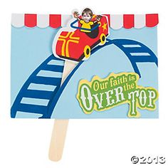 """Roller Coaster Ride """"Over The Top"""" Craft Kit - Oriental Trading"""