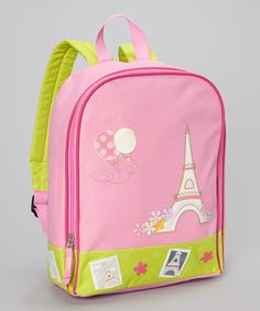 Take a look at this Pink Paris Backpack by Aquarella Kids on #zulily today!