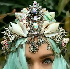 I really should make a mermaid crown for myself.