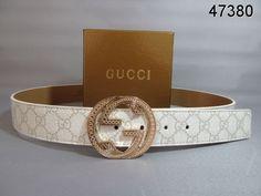 f823c880b1e Gucci guccissima Belt Gold Interlocking G Buckle white leather 80
