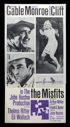 THE MISFITS * MARILYN MONROE MOVIE POSTER CLARK GABLE CineMasterpieces http://www.amazon.com/dp/B008UHYUB0/ref=cm_sw_r_pi_dp_xabWtb1XKZC49M8S