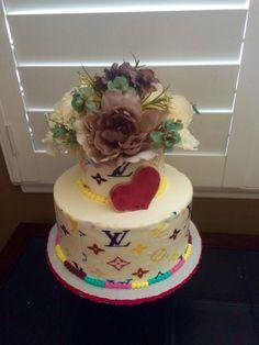 Louie Vuitton theme Bridal Shower Cake