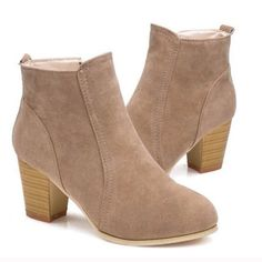 Brand New Taupe Suede Booties Size 7.5 Brand new Boutique Shoes Ankle Boots & Booties