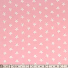 A wonderful super soft, quality cotton fabric with white stars on pink background. The white stars are approximately 1cm. ******EXTRA WIDE