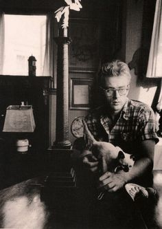 James Dean and his cat