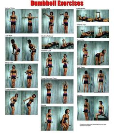 Dumbbell exercises - strength training