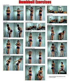 Dumbbell exercises - strength training